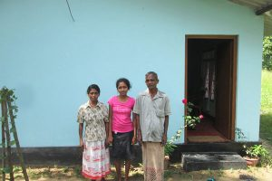 2014: Construction and Renovation of the partly built houses of Mrs. Gunathilake and Mrs. Rasika employees of Tropicoir